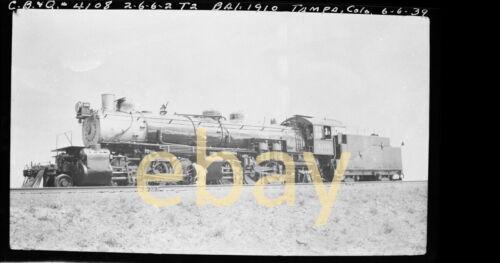 CB&Q 2-6-6-2 #4108. 1939 - B&W Negative