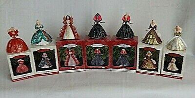 """Lot 7 Hallmark Keepsake Barbie Christmas Ornaments """"Holiday Barbie"""" 1993-98"""