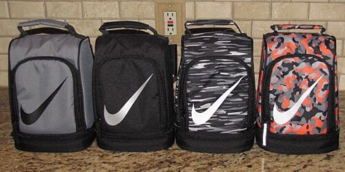 Nike Lunch Box Bag Black Grey Camo Orange Dome Style