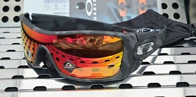 New Oakley BATWOLF 9101-6227 Sunglasses Matte Black Camo w/ Prizm Ruby Polarized