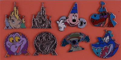 Disney WDW 2013 Hidden Mickey Park Icons 8 Piece Trading Pin Set