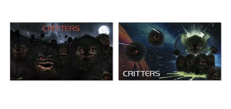 2 Critters Limited Edition Lithographs Scream Factory OOP In original tube NEW
