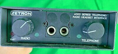 Zetron 4000 Series Telephone Radio Headset Interface 950-9439 M4010 Trhi
