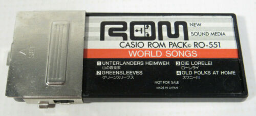 Vintage Casio PT-80 Rom Pack RO-551 World Songs - Tested & Working
