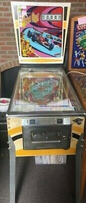 """Spin Out"" Pinball Machine 1975 D Gottlieb"