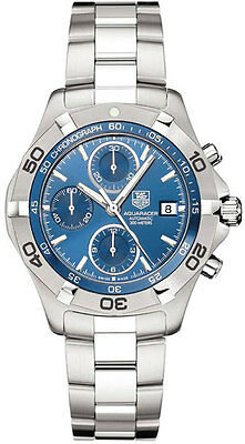 TAG HEUER AQUARACER CAF2112.BA0809 AUTOMATIC CHRONOGRAPH BLUE STEEL WATCH