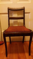 nice maroon antique chair