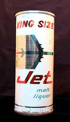 JET MALT LIQUOR HALF QUART EARLY 1960