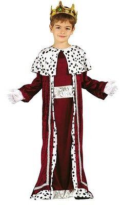 Jungen Roten König Weiser Mann Herren Weihnachten Krippe Verkleidung - Krippe König Kostüm
