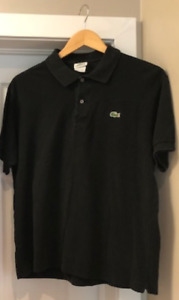 Men's Lacoste black polo shirt - Size L (6)