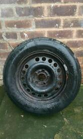 Vauxhall wheel and tyre 195 65 15