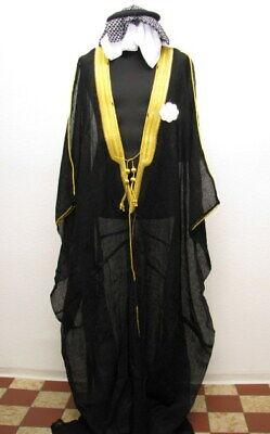 Arabisches Gewand Kaftan Umhang Scheich Kostüm Araber Ägypter mit - Saudi Arabien Kostüm