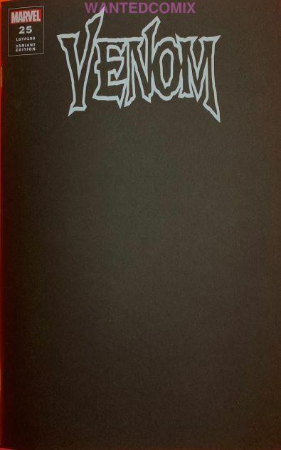 VENOM #25 BLACK BLANK VARIANT COVER DONNY CATES VIRUS MAY 2020 COMIC BOOK NEW 1