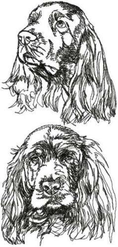 Sussex  Spaniel Dog Breed Personalized Embroidered Fleece Stadium Blanket Gift