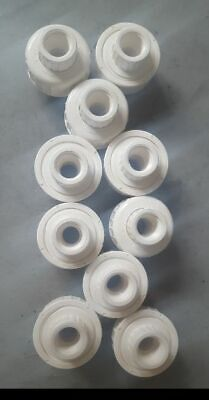 """Mueller 1/2"""" White Threaded PVC Union Schedule 80 OR 40 (LOT of 10)"""