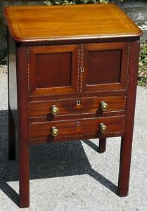 Georgian Period Antique Mahogany 2 Drawer Cabinet Kingston Kingston Area image 3
