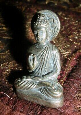 Old Tibetan Miniature Buddha Statue/Amulet in Silver