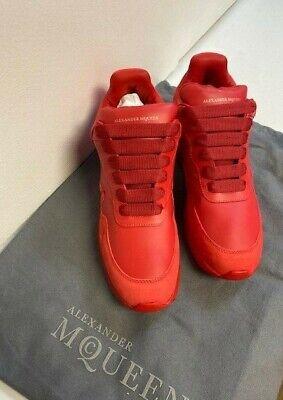 n Oversized Runner Sneakers (Red Runner)