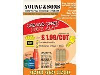 KEYS CUT FOR £1.99 PER CUT WHILE STOCKS LAST