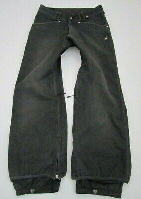 Mens Small DC Exotek 10k breathable gray denim jeans snowboarding pants
