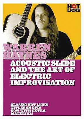WARREN HAYNES-ACOUSTIC SLIDE & THE ART OF ELECTRIC IMPROVISATION DVD-NEW SEALED!