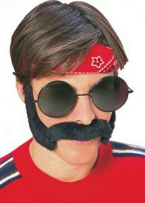 Hippie Porkchop Sideburns & Moustache Feelin Groovy Disguise Set - Porkchop Sideburns