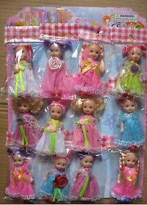 Lots 12pc pretty dolls with clothes,gift toy baby doll cute girl gift for christ