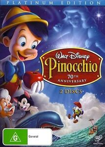 PINOCCHIO 70th Anniversary Platinum : NEW 2-DVD