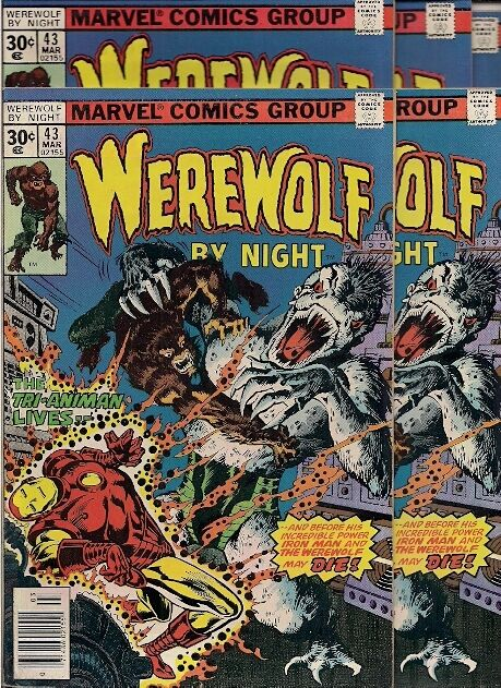 Oh GOD THE HORROR!!!  50 comics, WEREWOLF BY NIGHT #43, WWT #22
