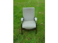 Cintique easy chair padded arms high backed lounger similar to Parker knoll