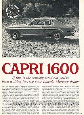 1970 Mercury Ford Capri 1600  Road Test Original Car Review Print Article PE19 Review Mercury Capri