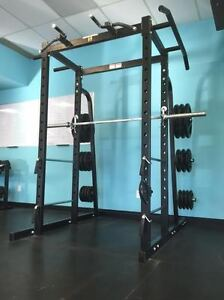 Commercial Power Rack with Olympic Bar included. Kingston Kingston Area image 1