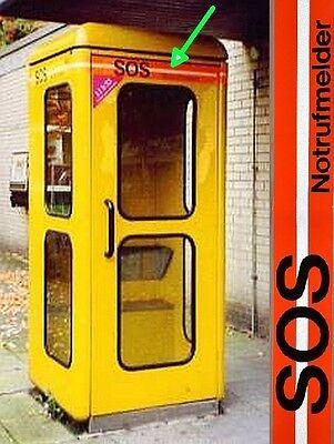 4x POST Kennzeichnungsband - SOS Notrufmelder - f. gelbe Bundespost Telefonzelle