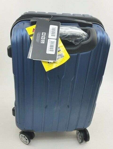 Travelers Choice 1Pc Polycarbonate Spinner Luggage Blue 22""