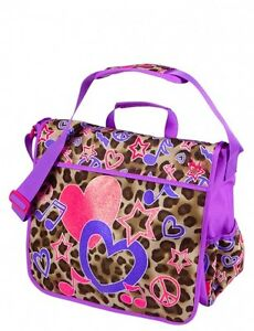 JUSTICE Girls Cheetah Rock Backpack, Messenger Bag or Lunch Box, NEW