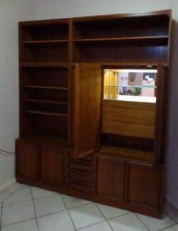 CHISWELL TEAK BOOKCASE AND BAR