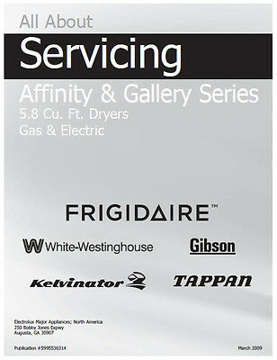 Frigidaire Affinity   Gallery  Gas   Electric Dryer Service   Repair Manual