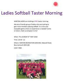 Winton Ladies Softball Cricket Taster Morning