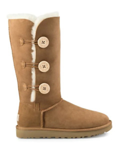 Brand new in box Ugg Bailey button triplet - Size 8 Chestnut