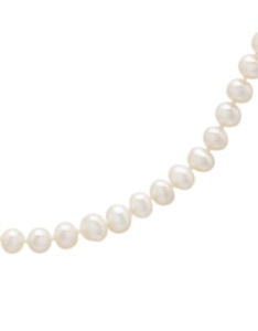 Kids 5MM White Freshwater Pearl and 14KT Yellow Gold Necklace