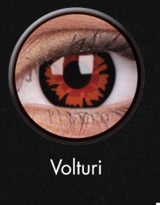 Crazy Contact Lens Lentilles Kontaktlinsen Fun Halloween Red Volturi Flowers UK ()