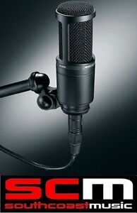 AUDIO TECHNICA AT2020 PRO RECORDING CARDIOID CONDENSER MIC MICROPHONE w MOUNT