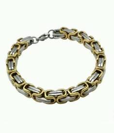 Stainless steel byzantine bracelets