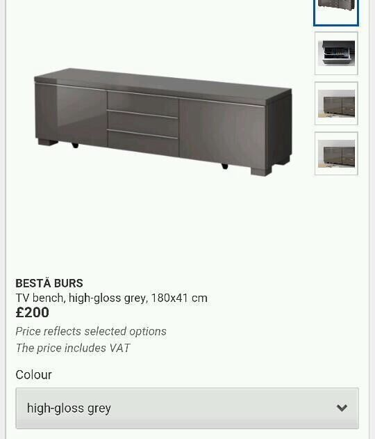 Ikea Aspelund Bedroom Furniture ~   IKEA Besta Burs TV Unit Stand  in Edinburgh City Centre, Edinburgh