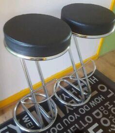 Z- shaped Padded Bar stools X 2