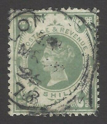 GB QV 1887 1sh dull-green SG 211 fine used