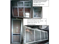 Aluminium windows and doors.