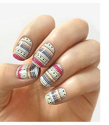 """INCOCO Nail Polish Strips, """"Play Along"""" Colorful Design 16 Double-Ended Strips"""