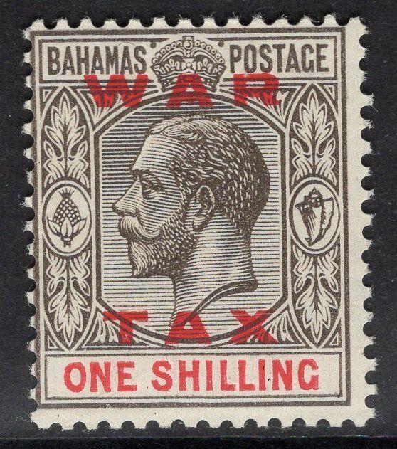 BAHAMAS SG104 1919 1/= GREY-BLACK & CARMINE MTD MINT