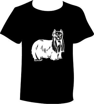 T-Shirt Yorkshire Terrier Hunderasse Kopf Motiv Hundemotiv Shirt Yorki ()